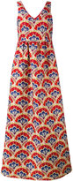P.A.R.O.S.H. floral maxi dress - women - Polyamide/Polyester/Acetate/Viscose - XS