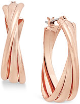 Charter Club Rose Gold-Tone Triple Twists Hoop Earrings, Only at Macy's