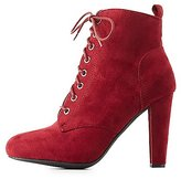 Charlotte Russe Lace-Up Ankle Booties