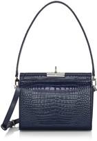 Gu De Gemma Croc-Embossed Leather Top Handle Bag