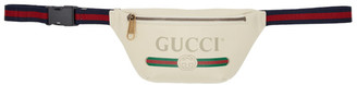 Gucci White Small Logo Belt Bag
