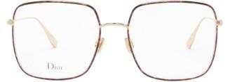 Christian Dior Diorstellaire1 Square Tortoiseshell Metal Glasses - Gold