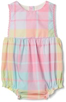 Gap Pastel plaid bubble one-piece