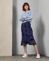 Ted Baker Robot Print Midi Skirt