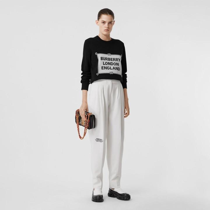 Burberry Rigging Intarsia Merino Wool Sweater