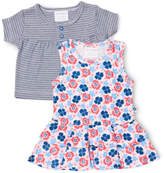 Marquise NEW Sleeveless Dress and Short Sleeve Cardigan 2 Piece Set Navy