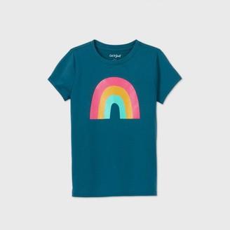 Cat & Jack Girls' Short Sleeve Rainbow Graphic T-Shirt - Cat & JackTM