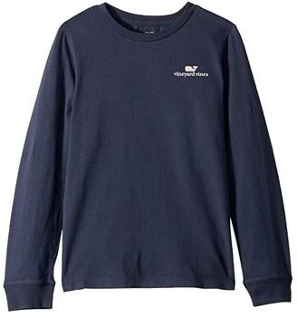 Vineyard Vines Kids Long Sleeve Logo Graphic T-Shirt (Toddler/Little Kids/Big Kids)