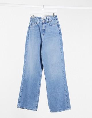 New Look wide leg jean in mid blue