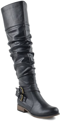 Chase & Chloe Maggy Slouch Knee-High Riding Boot
