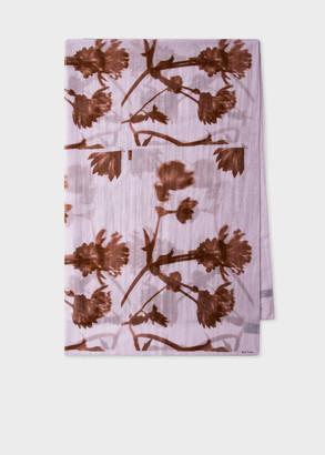 Women's Mauve 'Screen Floral' Print Scarf
