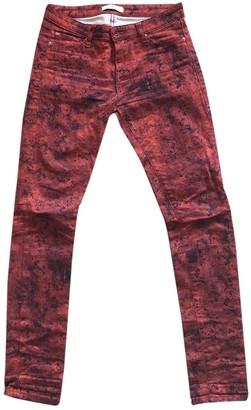 IRO Red Cotton - elasthane Jeans