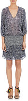 Ulla Johnson WOMEN'S SMOCKED GEORGETTE DRESS-BLUE SIZE 4