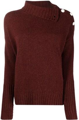 Zadig & Voltaire Alma buttoned shoulder pullover