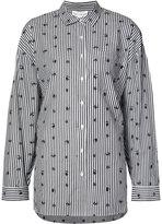 Robert Rodriguez printed stripe shirt - women - Cotton - M