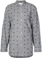 Robert Rodriguez printed stripe shirt