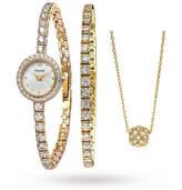 Accurist Ladies Bracelet & Necklace Gift Set Watch LB1803
