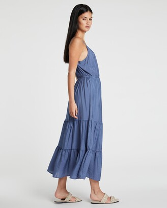 Only Women's Blue Midi Dresses - Sky Midi Strap Dress - Size One Size, M at The Iconic