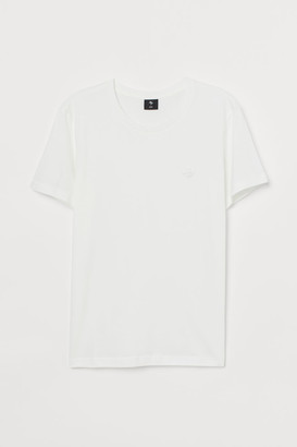H&M T-shirt with Embroidery - White