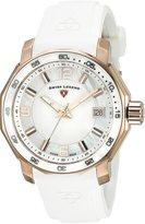 Swiss Legend Women's 16191SM-RG-02-WHT Blue Geneve Analog Display Swiss Quartz Watch