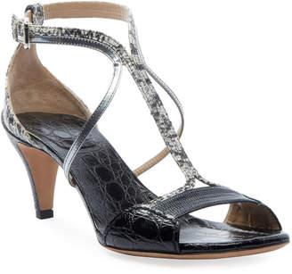 Chloé Carla Snakeskin Strappy Sandals