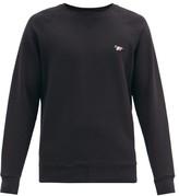 Maison Kitsuné Maison Kitsune - Tricolor Fox Patch Cotton Sweatshirt - Mens - Black