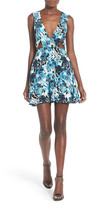 NBD Ask Me Out Print Fit & Flare Minidress