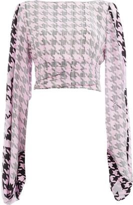 Natasha Zinko houndstooth cropped blouse