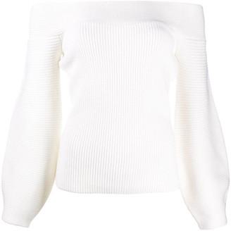 Elisabetta Franchi Off-Shoulder Knitted Jumper