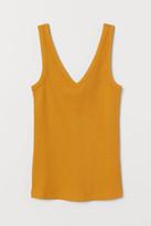 H&M V-neck cotton vest top