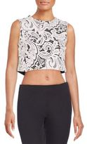 Mary Katrantzou Guipure Lace Cropped Top