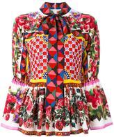 Dolce & Gabbana Mambo print peplum blouse - women - Silk/Cotton - 44