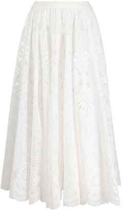 RED Valentino High-Waisted Midi Skirt