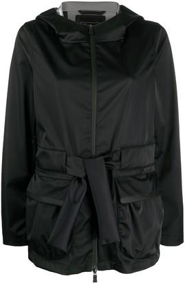 Herno Belted Hooded Jacket
