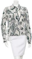 Balenciaga Printed Silk Top