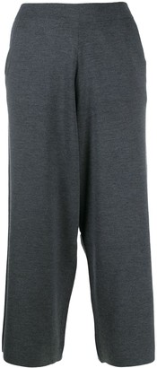 Allude Cropped Relaxed Fit Trousers