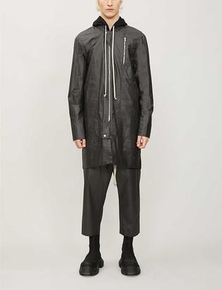 Rick Owens Longline waxed-cotton bomber jacket