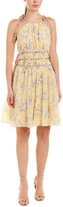 Rebecca Taylor Lemon Rose A-Line Dress