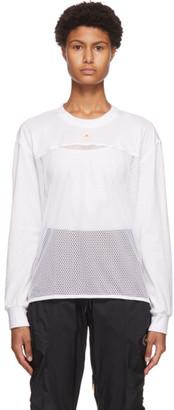 adidas by Stella McCartney White Mesh Long Sleeve T-Shirt