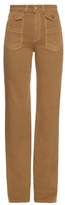 See by Chloe High-rise flared cotton-canvas trousers