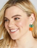 Lane Bryant Beaded Orange Drop Earrings