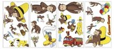 BuySeasons Curious George Peel & Stick Wall Decal