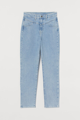 H&M Mom Ultra High Ankle Jeans - Blue