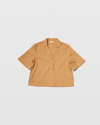 Club Monaco Cropped Collar Shirt
