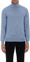 Brioni Men's Cashmere-Silk Turtleneck Sweater-LIGHT BLUE