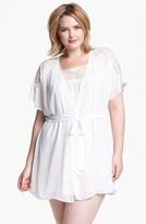 Jonquil Plus Size Women's In Bloom By Chiffon Robe