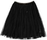 Little Karl Marc John Jutuly Glitter Print Mesh Skirt