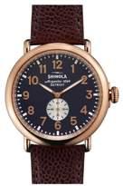 Shinola 'Runwell' Leather Strap Watch, 47mm