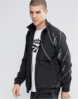 Reebok Vector Zip Track Jacket In Black AZ9535