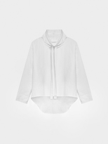 DKNY Pure Cowl Neck Pullover With Drawcord